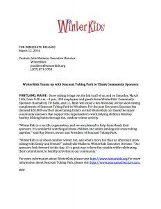 news release format sponsor appreciation day press release