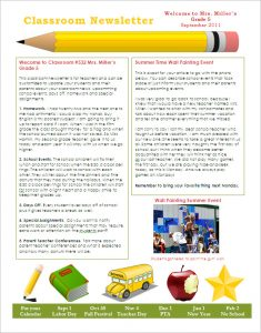 newsletter template free free classroom newsletter template download