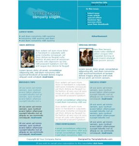 newsletter template free newsletter templates a