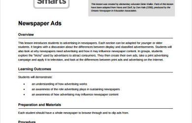 newspaper ad template newspaper ads pdf template free download