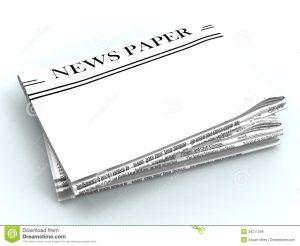 newspaper headline template blank newspaper copyspace shows news showing media headline space