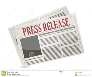 newspaper headline template press release newspaper illustration design over white