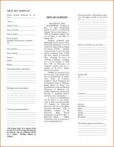 newspaper obituary template newspaper obituary template