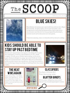 newspaper template free the scoop newpaper template for kids download