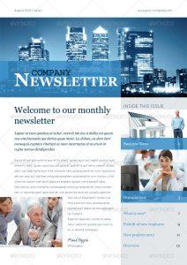 newspaper template word newsletter