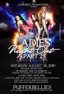 night club flier ladies night part ii flyer