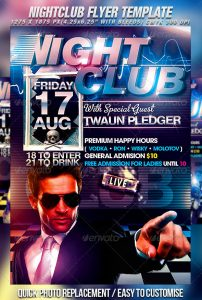 night club flier best night club flyer template