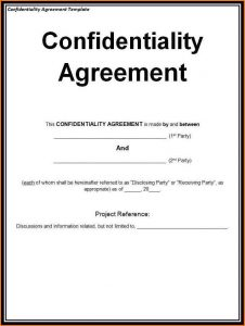 non disclosure agreement sample non disclosure agreement template confidentiality and nondisclosure agreement template