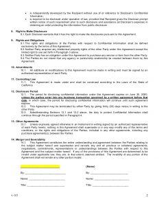 non disclosure form sample mutual non disclosure agreement