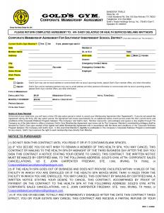 non profit donation receipt gym membership contract template