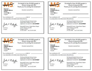 non profit donation receipt ild walk ms donation receipt