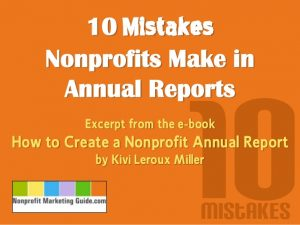 non profit website templates mistakes nonprofits make in annual reports