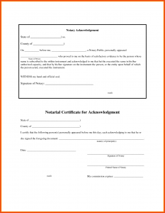 notarized document sample notary document template notary public format