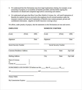 notarized document sample simple domestic partnership agreement