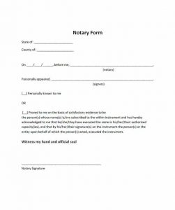 notarized letter format notarized letter template