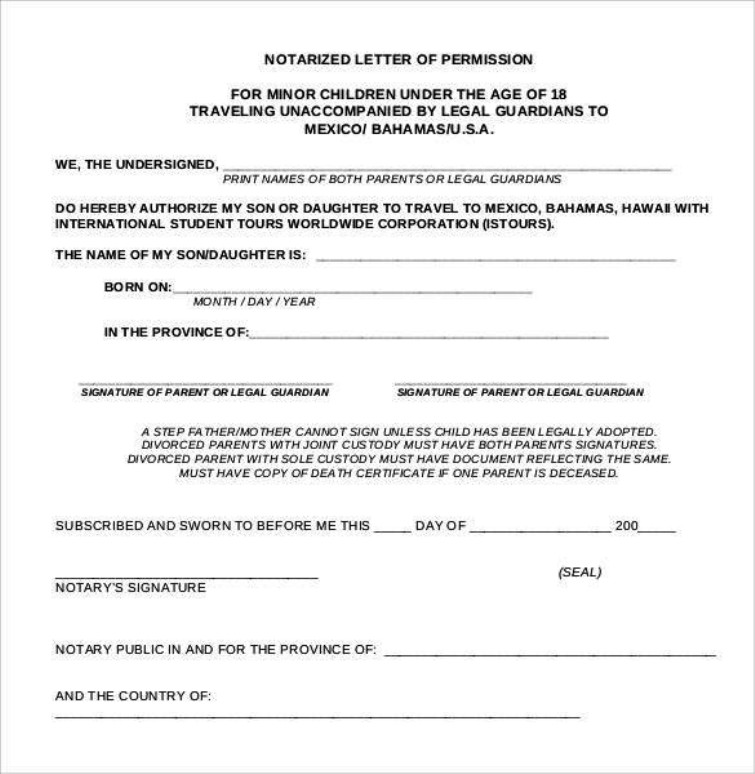notarized letter template