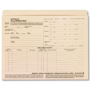 notary signature template a envelofile personnel employee folders xl