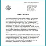 notary statement template no objection latter