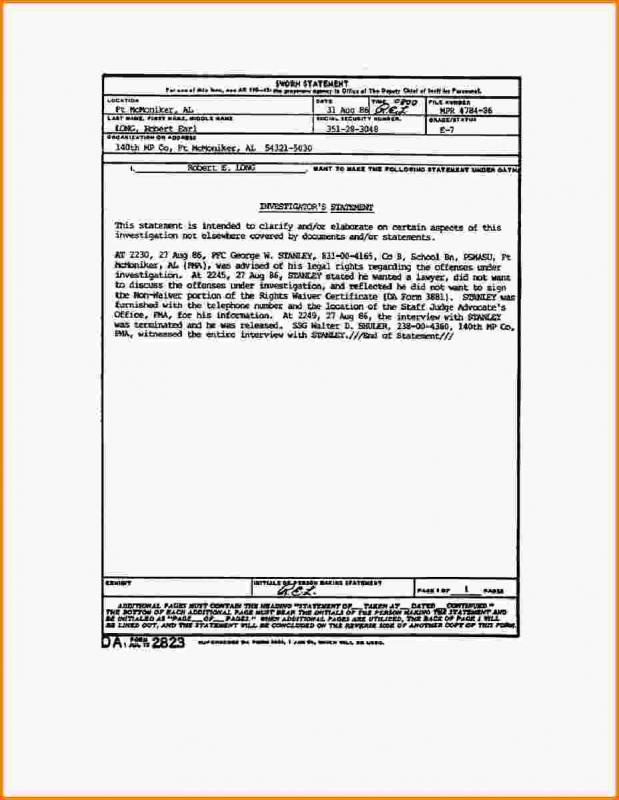 notary statement template