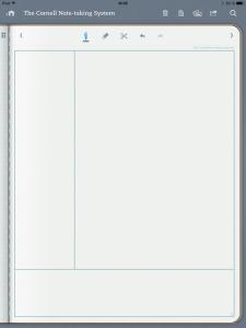 note taking template cornell notetaking system screenshot