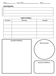 note taking template slide