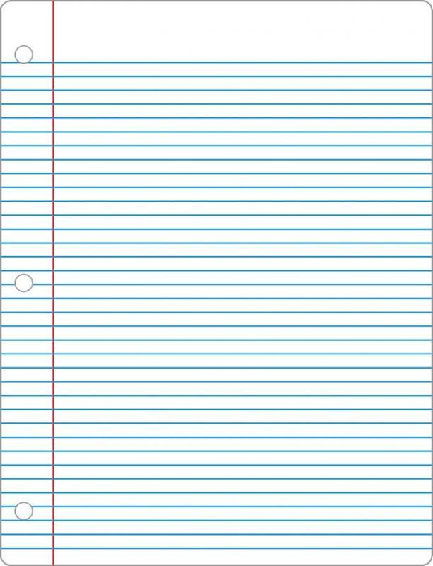notebook paper pdf