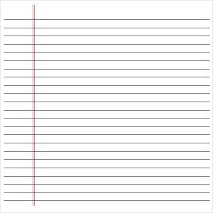 notebook paper pdf printable notebook paper template