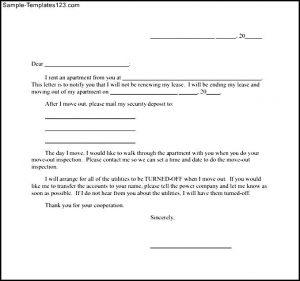 notice of lease termination letter from landlord to tenant notice letter of lease termination of tenant printable
