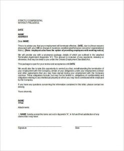 notice of termination employee notice of termination of employment