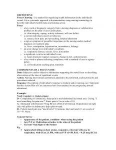 nurses notes template fdar focus charting