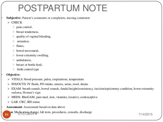 nurses notes template