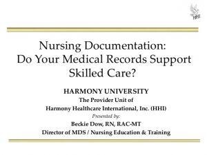 nursing notes examples nursing documentation do your medical records support skilled care
