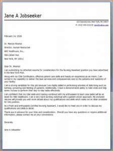 nursing student resume examples nursing assistant cover letter samples