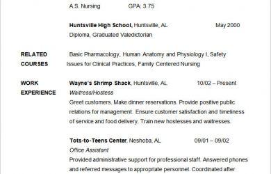 nursing student resume nursing student resume template sample