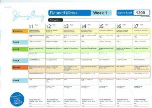 nutrisystem meal planner scan