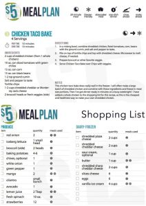nutrisystem meal planner weekly meal planner with grocery list meal plan sample plan siftgl