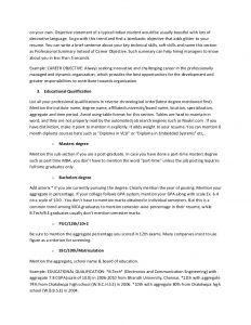 objective for resume for freshers the ultimate resume guide for freshers
