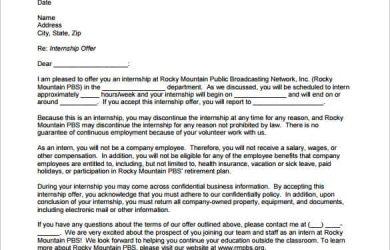offer letter sample internship offer letter template pdf min