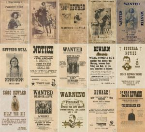 old west wanted posters o