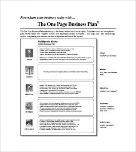 one page business plan pdf one page business plan oprah