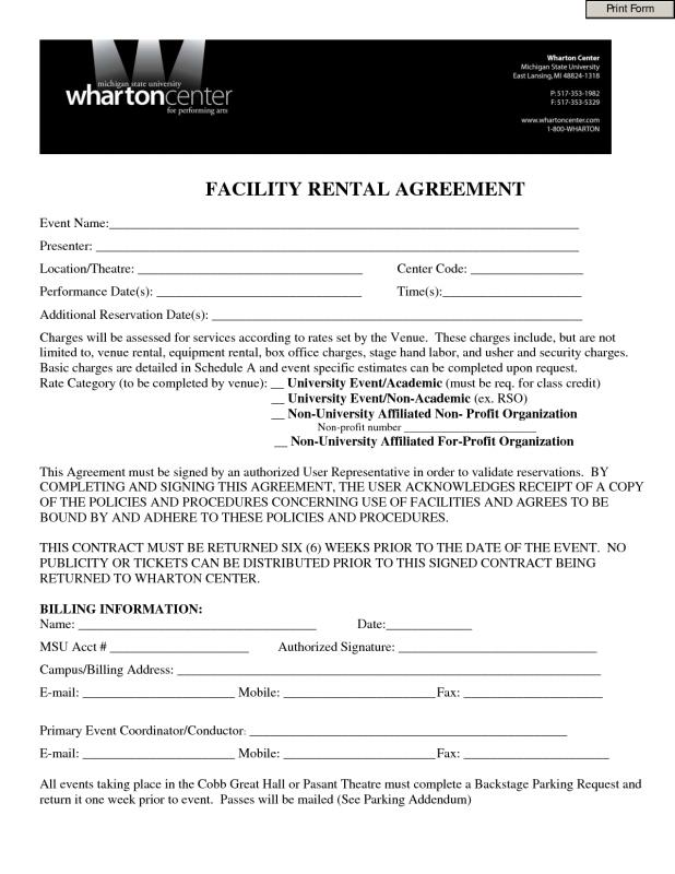 one page lease agreement