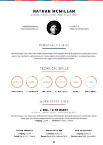 one page website template curriculum print
