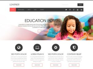 one page website template learner