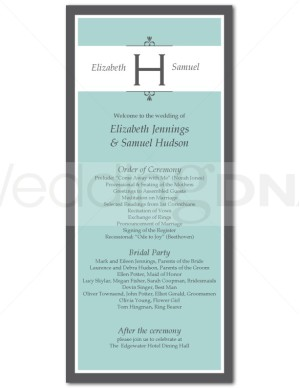 one page wedding program template