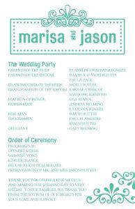one page wedding program template program