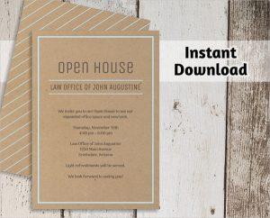 open house invite templates business open house invitation template
