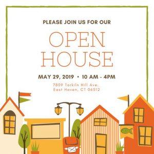 open house invite templates canva colorful houses illustrated open house invitation mackkeaolk