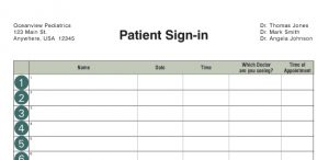 open house sign in sheet printable medical custom sil crop