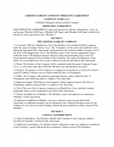 operating agreement samples llc operating agreement template qheqd