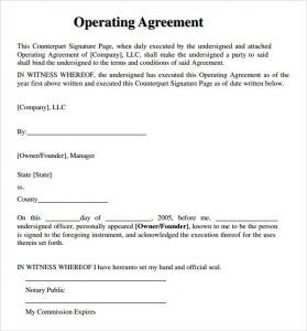 operating agreement template llc operating agreement template download